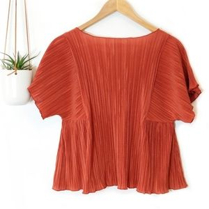 Madewell Tops - • madewell • rust micropleat top